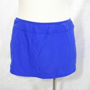 Athena Finesse Aline Swim Suit Skirt Bottom 8 Blue
